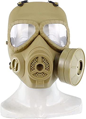 WSYGHP Máscara de Gas táctico Mascarilla de Gas de Paintball Cause Cause CS Máscara para la protección de Roles PROTECCIÓN DE Trabajo Halloween Masquerade BK máscara de Oni (Color : T)