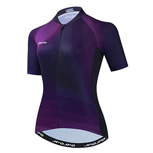 Weimostar Radfahren Jersey Frauen Bike Top voller Reißverschluss Fahrradhemd Straße Fahrrad Kleidung Dame Reiten Rennen MTB Berg Sommer Kleidung tiefblau S.