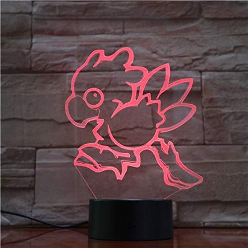 Laufendes Küken 3D Nachtlicht 7 Farben Ändern Illusion Lampe Touch Fernbedienung Schlafzimmer Büro Raumdekoration Lampe Geburtstag Weihnachtsgeschenk