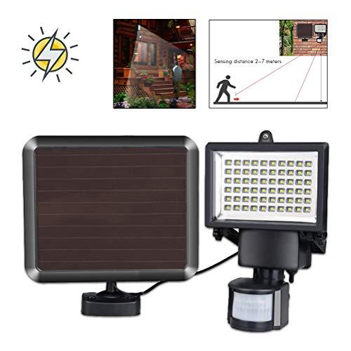 4x 60 LED Solar Power Security Light PIR /& Dusk Dawn Sensor Outdoor Floodlight