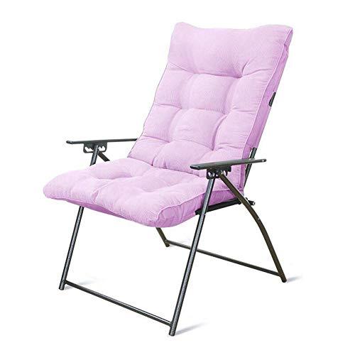 Gartenstuhl Klappstuhl Home-Office-Lounge-Stuhl Nap Stuhl Studentenwohnheim Computer Stuhl (Color : Pink)