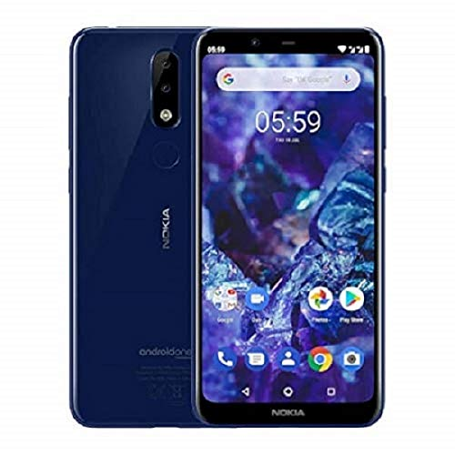 Nokia 5.1 Plus Smartphone (14,73 cm (5,8 Zoll) HD+ Display, 13 MP + 5 MP Dual Rückkamera, 8 MP Frontkamera, 32 GB interner Speicher, 3 GB RAM, Dual-Sim) gloss midnight blau
