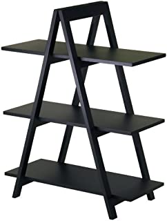 Winsome Wood Aaron Shelving, Black