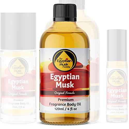 """Egyptian Musk Oil, Choose from Roll On to 1oz - 4oz Glass Bottle, by WagsMarket - The Egyptian Musk Factoryâ""""¢ (4oz Glass Bottle)"""