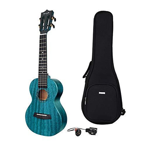 Enya Tenor Ukulele Elektrische EUT-MAD EQ Holz 26 Zoll Solides Mahagoni Anfänger und Fortgeschrittene Kleine Hawaii Gitarre mit Tasche Tonabnehmer Pickup Blau
