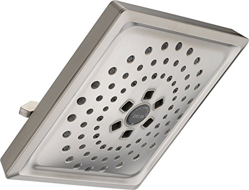 Delta Faucet 3-Spray H2Okinetic Shower Head, Stainless 52684-SS