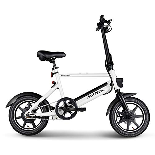 professional Murtisol 14inch Electric Bicycle Aluminum Adult Ebike 36V 250W, 6AH Lithium Battery, Dual Disc …