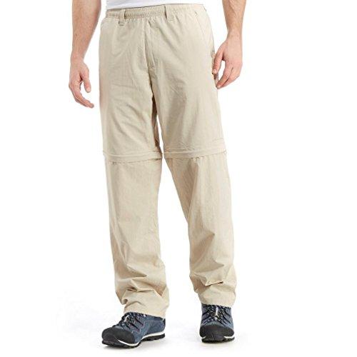 Columbia Pantalones Convertibles para Hombre, Estilo atlético, fósil, Grande x 30