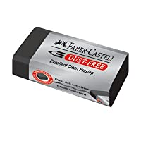 Faber - Castellダストフリー消しゴム、鉛筆ブラックパック3個