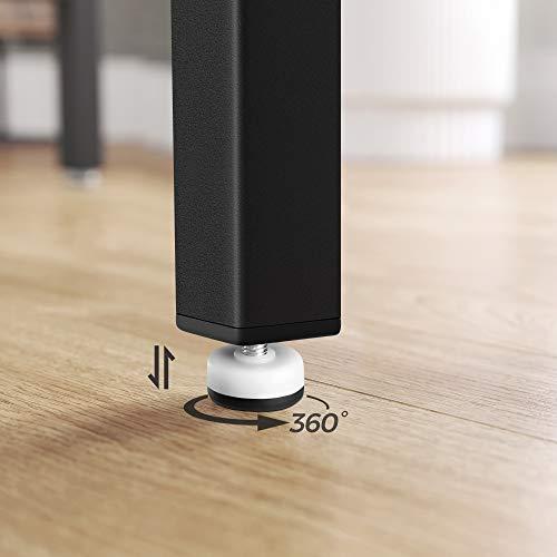 VASAGLE Bartisch-Set, Stehtisch mit 2 Barhockern, Küchentresen mit Barstühlen, Küchentisch und Küchenstühle im Industrie-Design, für Küche, 120 x 60 x 90 cm, vintagebraun-schwarz LBT15X - 9