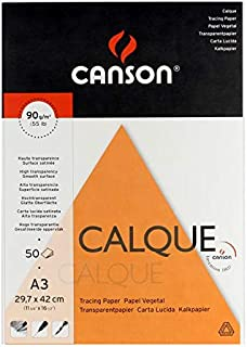 Canson Drawing book Transparent paper, 50 A3 papers