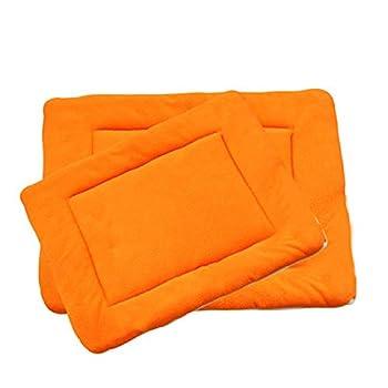 Maison BOBO Coussin pour Chien Epais Lit de Chien Lavable Matelas Chien Grande Taille Tapis de Chien Chat Confortable pour Niche Voiture(Orange,S)