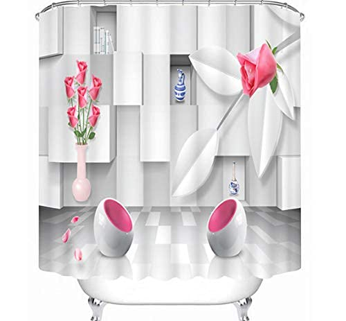 Duschvorhang Schimmelfrei Ausgezeichnete Zeitung Duschvorhang Fenster Anti-Schimmel Wasserabweisend Showercurtain 180*180Cm Top Qualität Wasserdicht, Anti-Schimmel-Effekt 3D Digitaldruck Inkl. 12