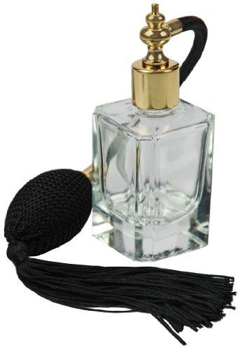 Fantasia Flakon 46184, Quadrat, mit Ballpumpe, für 50 ml