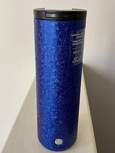 Starbucks 2020 Texturized Blue Double Walled Stainless Steel Tumbler, 16 Fl Oz