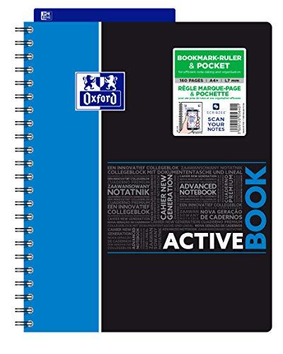OXFORD 400037402 Activebook Studium Digitaler Collegeblock A4 liniert 80 Blatt - Zufallsfarbe, kein Farbwunsch möglich