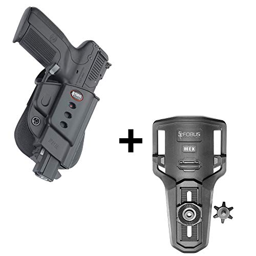 Fobus Rotating roto Tactical Retention Holster + Lowride Belt Holder Attachment for FNH Five-Seven (Doesn't fit The New FN 5.7 MK2) Pistols