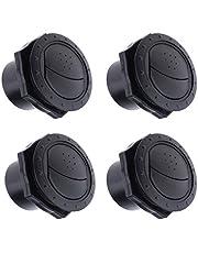 B Blesiya 4 Piezas de Rejilla de Salida de Ventilación Redonda de Ventilación de Plástico ABS 70x45 Mm Negro