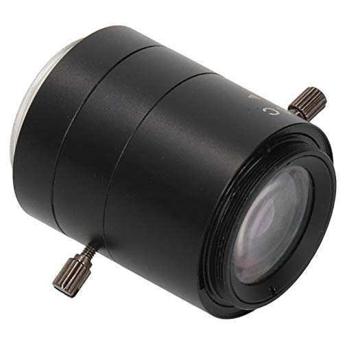 Qioniky Lente Zoom, Lente CCTV, Aleación de Aluminio Fácil de Instalar Kp-0612 3Mp 6-12Mm para Microscopio Industrial C-Mount