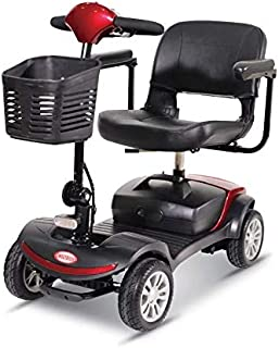 2019 New ComfyGo Battery Powered Mobility Scooter Heavy Duty Lightweight Folding Long Range Scooter with 18 Inches Wide Seat (Red)