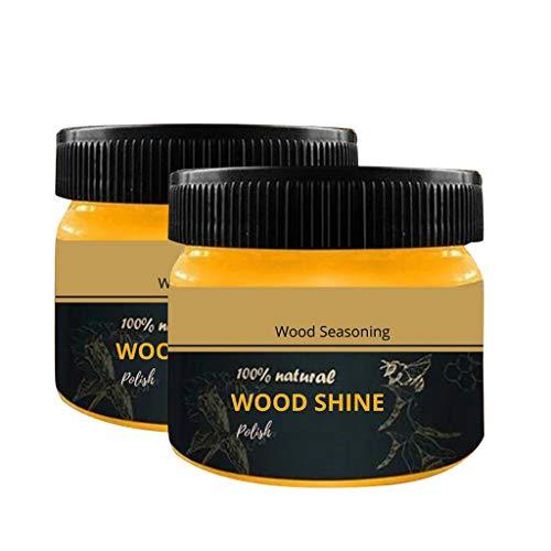 Home Cleaners-Wood Seasoning Beewax Solución completa para el cuidado de los muebles de cera de abejas limpieza del hogar 80g 2pcs