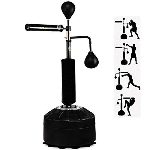 ボクシング パンチバッグ 立ち アダルト と 反応ターゲット、 反射 スピニングバー 高さ 調整可能、 スピードボール スパーリング ボクシング キック トレーニング