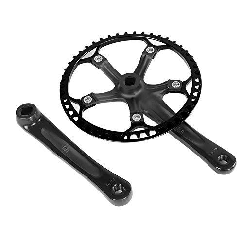 Alomejor Crankstel 45T 47T Singlespeed Crankset 170mm kettingblad kettingset 2 kleuren voor fiets fietsen