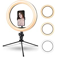 Rovtop 10.2 Inch Ring Light with Tripod Stand