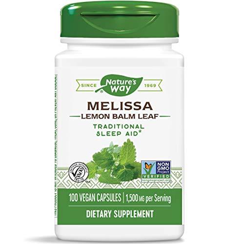Nature's Way - Foglio mg del balsamo del limone 500 del Melissa. - 100 Capsule vegetariane