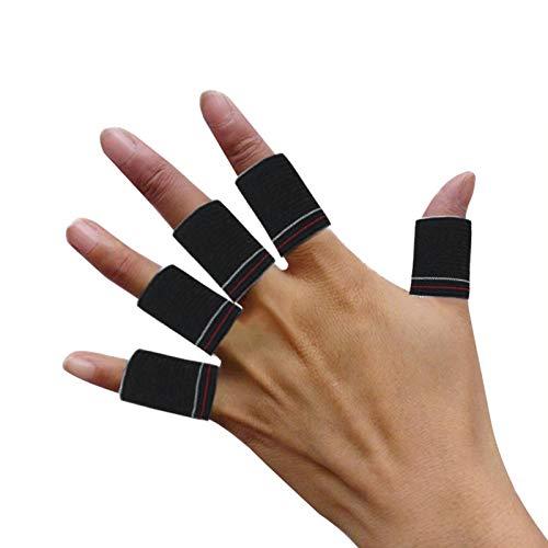 BIOBEY 10-Teiliger Fingerschutz-Basketball, Arthritis-Fieberbläschen-Creme, Dehnbare Stützübung, Zusätzliches Gummiband für Die Fingerschutz-Trainingsmatte Bandage Basketball-Volleyball-Tennis