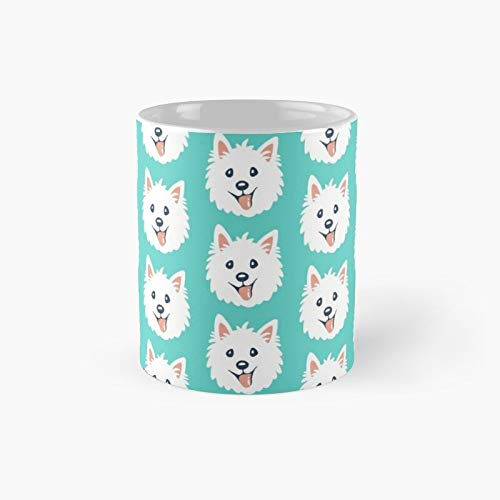 Westie Puppy Pattern Classic Mug Best Gift Funny Coffee Mugs 11 Oz