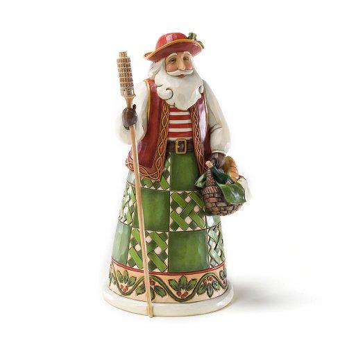 "Jim Shore Heartwood Creek Italian Santa Stone Resin Figurine, 6.875"""