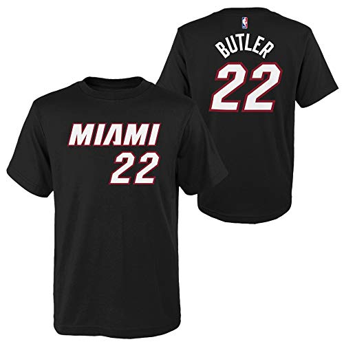 Outerstuff Jimmy Butler Miami Heat #22 Youth Player Name & Number T-Shirt Black (Large 14/16)