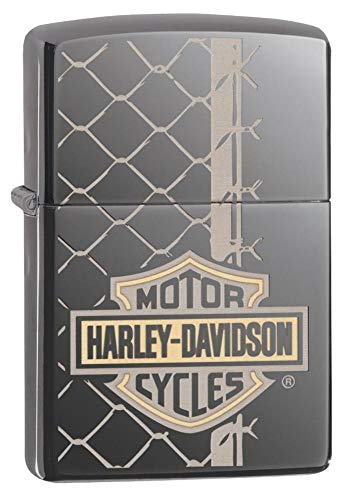 Zippo Harley-Davidson (PVD Black Ice), Accendino Unisex Adulto, Regular