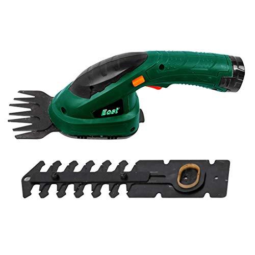 GCZZYMX eléctrica sin cuerda Shearer cortasetos recargable 7.2V batería Césped Tijeras 2 en 1 deshierbe herramienta pequeña para Gardening árbol frutal