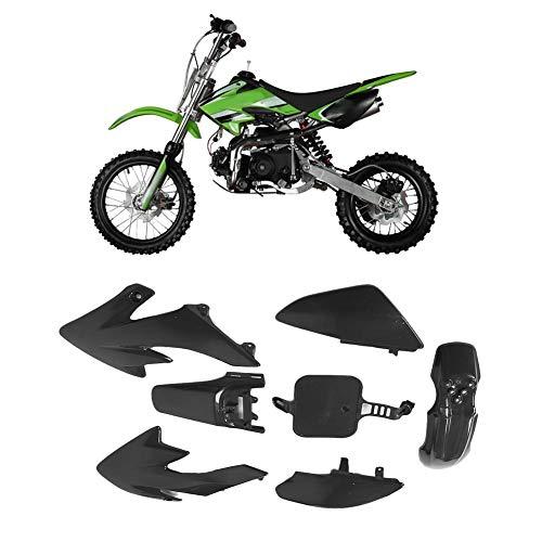 AYNEFY Motorcycle Fairing Kit, Universal Front Rear Fender Fairing Kit Mudguard Fit for Honda XR50 CRF50 SDG SSR 107 125(Black)