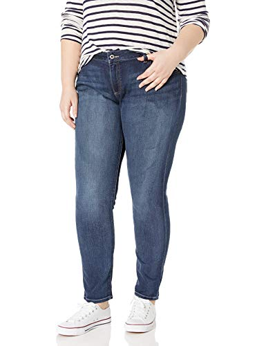 Lucky Brand Women's Plus Size Mid Rise Ginger Skinny Jean in Barrier, 18W