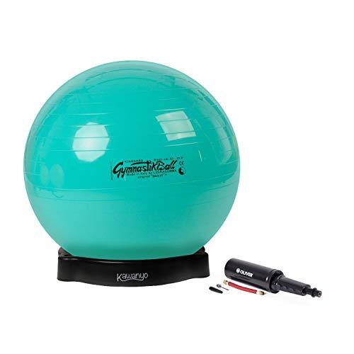 PEZZI Original Pezziball Standard 65 cm m. Ballschale & Pumpe Kombi Gymnastikbal