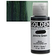 Golden Fluid Acrylic Paint 1 Ounce-Jenkins Green