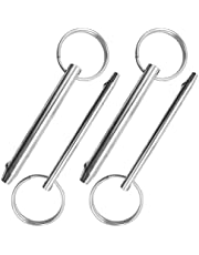 """AFUNTA 4 Stks Quick Release Pin, Diameter 5/16"""" (8mm) & 1/4"""" (6.3mm), Totale lengte 3"""" (76mm), Volledige 316 roestvrij staal, Bimini Tops voor Boten Accessoires"""