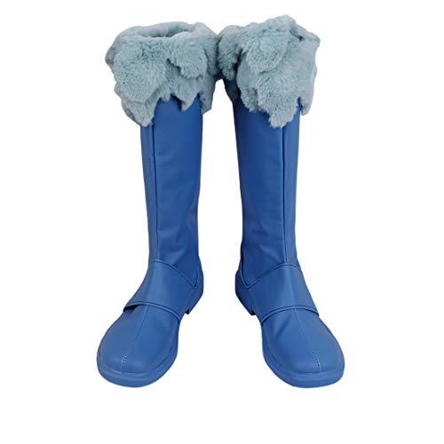 YKJ Anime Cosplay Calza Signora Partito del Vestito Operato del Partito di Natale Scarpe Fase Blu Stivali Personalizzati,Women's shoes-38