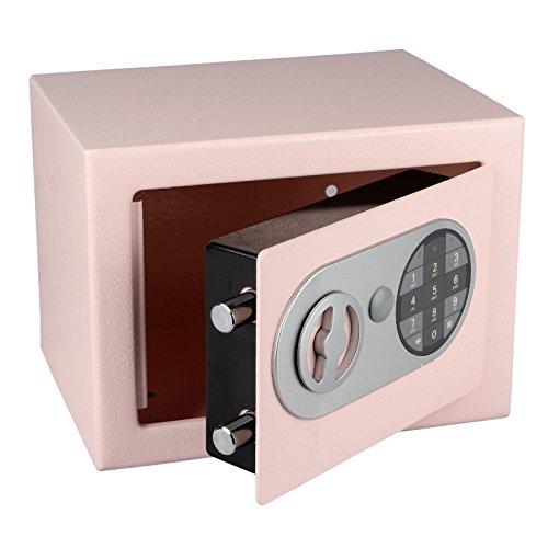 Tresor 17 E - Stahltresor, Möbeltresor mit Pin-Code-Tastatur in Verschiedenen Farben (Rosa)