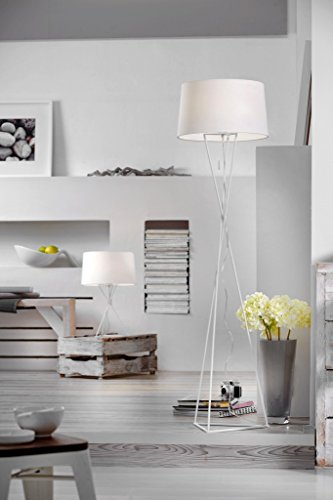Villeroy & Boch New York Lampe de Table Métal 60 W Blanc H 55 cm Ø 35 cm