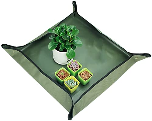 XoXa Tappetino da Giardino Impermeabile, Tappetino Pieghevole per Piante, per la Cura di Piante da Giardino fatate in Miniatura al Chiuso