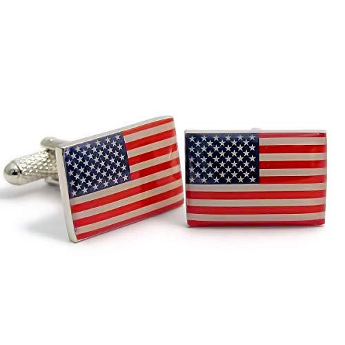 Onyx Art Boutons de manchette drapeau américain
