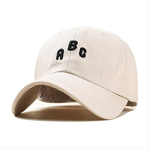 WENHAODJ Bordado Simple Gorra de béisbol ABC para Hombres y Mujeres Gorra de Ocio al Aire Libre Ajustable Beige