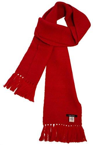 Posh Gear Alpaga Écharpe Homme Calido 100% Alpaga laine, 160cm x 20 cm, rouge
