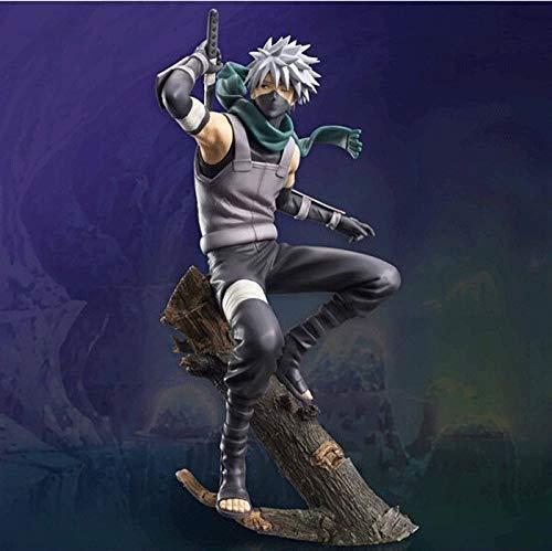 Zenghh Statische Action-Figur Modell Stattliche Naruto Hatake Kakashi Lehrer Zweig Szene Mode Modische Computer-Loft-Grafik Exponate Auslage Geschenkkarton-Kasten-Verpackung