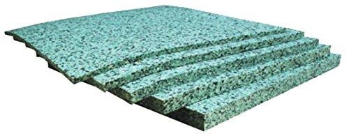 8 geluidsisolatieplaten voor de geluidsisolatie van muren en plafonds. Afmetingen: 1190 x 595 x 40 mm. EliAcoustic Pebbles muur en plafond