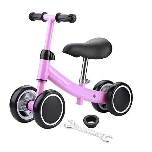 Equilibrio Entrenamiento Mini Bike Scooter Walker Scooters para bebé de 1 a 2 años (rosa)